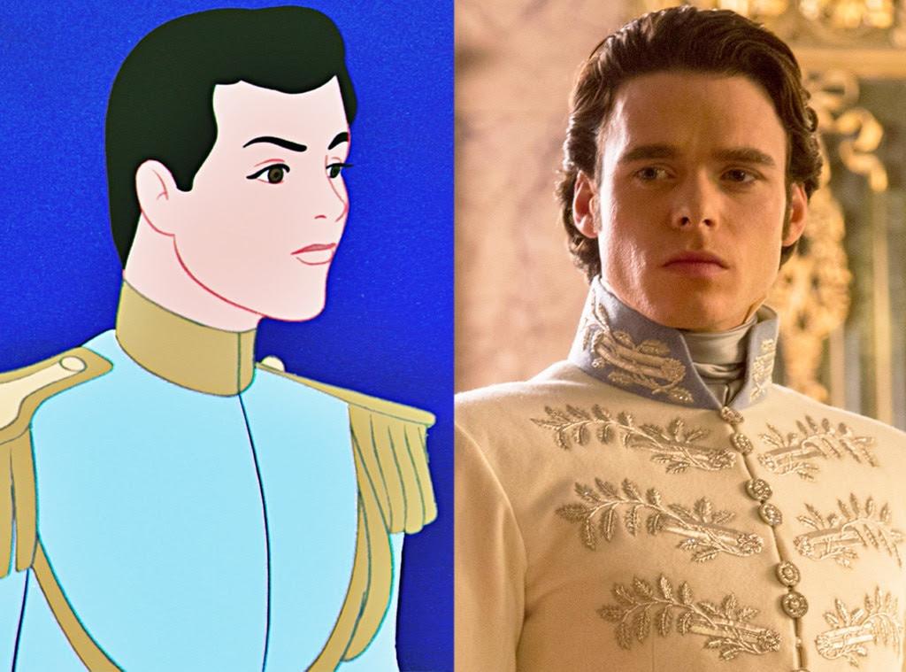 Prince Charming, Animated Disney vs. Live Action Disney