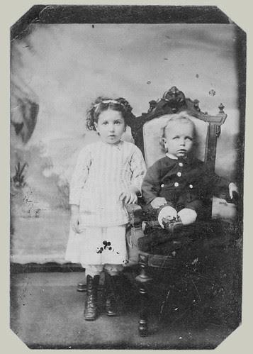 Tintype: Two Children