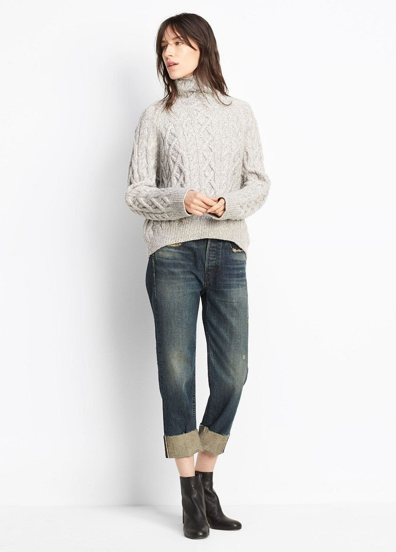 Vince Cuffed Union Slouch Jean in Heirloom Wash