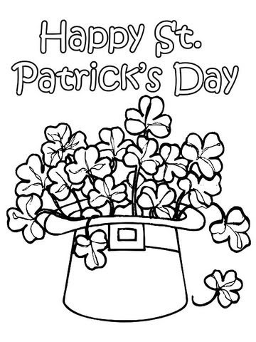 12 st patrick's day printable coloring pages for adults  kids