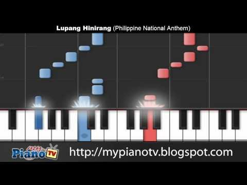 Lupang Hinirang (Philippine National Anthem) Piano Tutorial @ 100% Speed