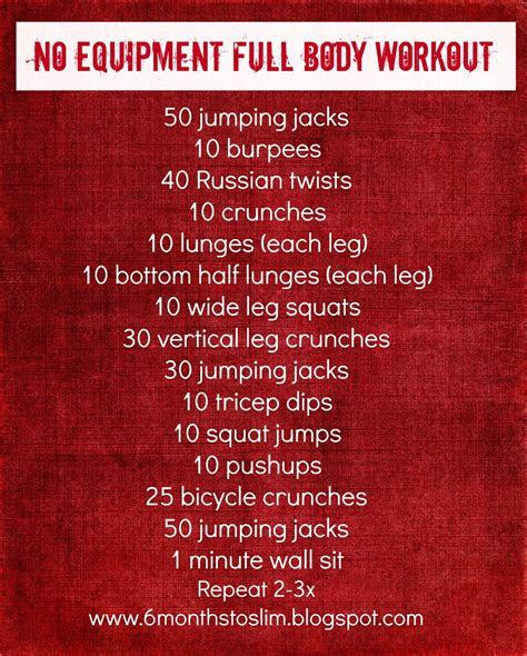 months  slim  equipment full body workout
