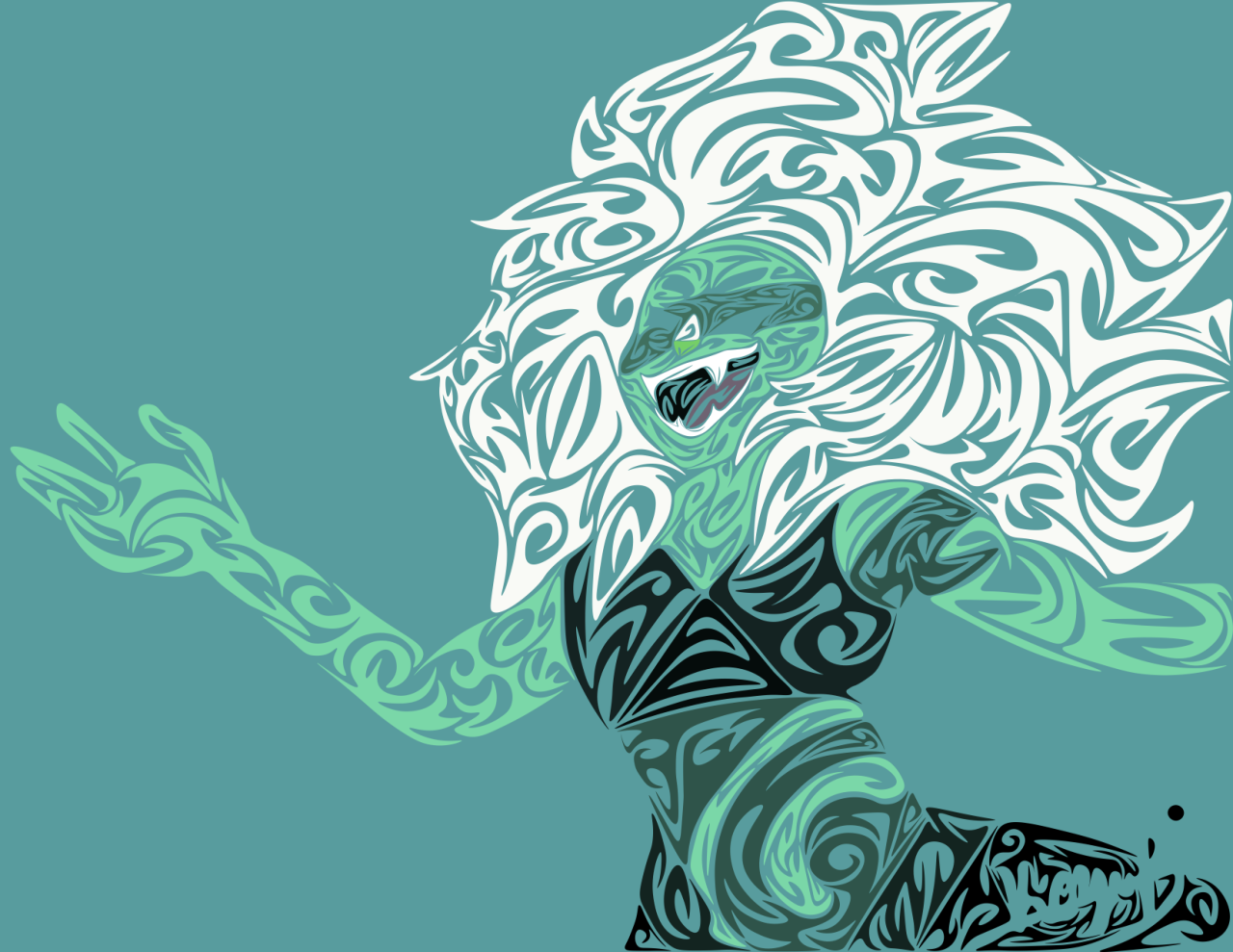 Tribal Malachite CREDIT IF USE