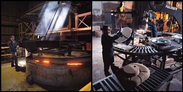 Crowe Foundry employees at work (photos from Crowe Foundry website)