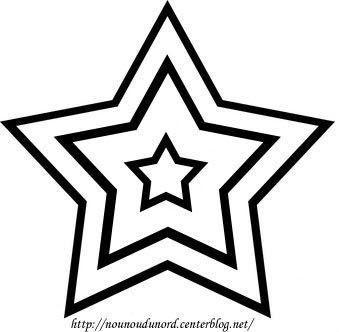 Coloriage étoile De Noël