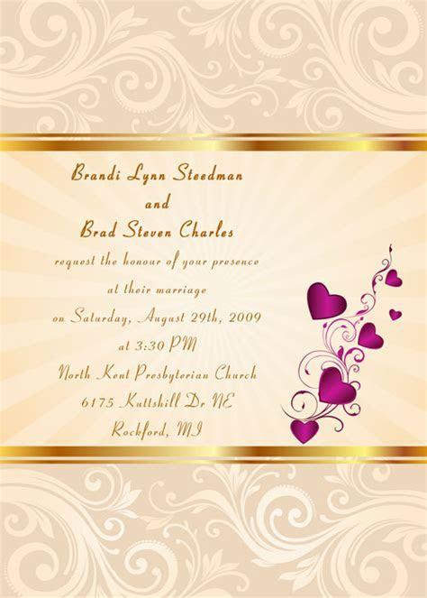 Orange Wedding Invitations At Elegant Wedding Invites