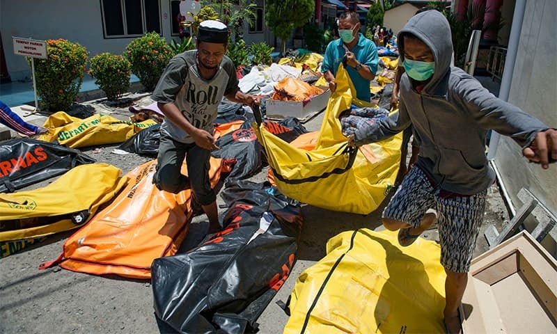 Indonesia tsunami toll tops 800 amid search for survivors  World  DAWN.COM