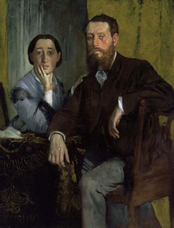 Edgar Degas - Edmondo e Thérèse Morbilli