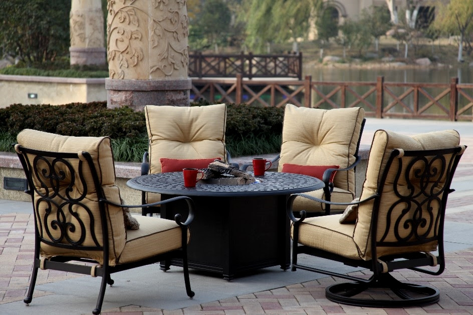 Patio Furniture Deep Seating Chat Group Cast Aluminum ...