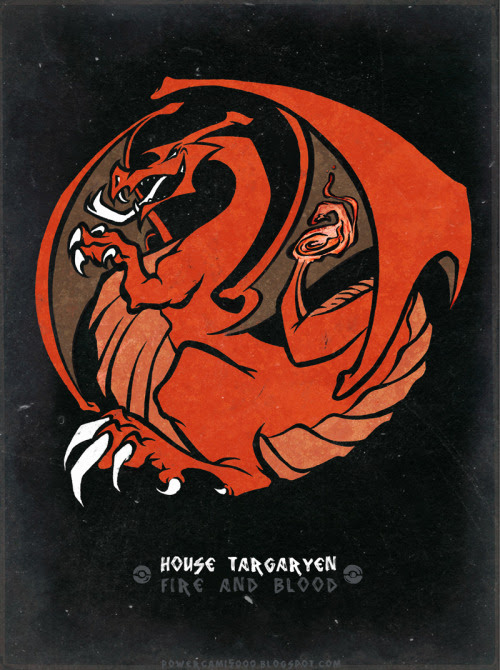 House Charizard / Targaryen by Cami Sanders / posted by ianbrooks.me