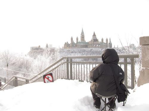 Sketching Parliament Hill, Ottawa, Canada