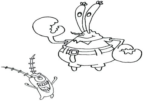 57 Plankton Spongebob Coloring Pages Pictures