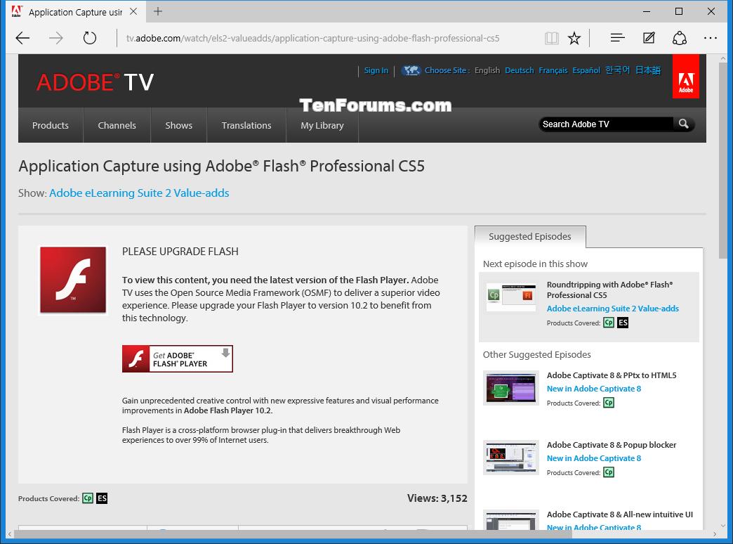 скачать adobe flash player для windows 10