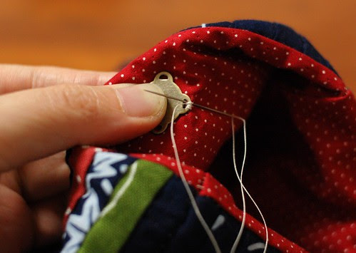 How to make a string quilt pouch 21