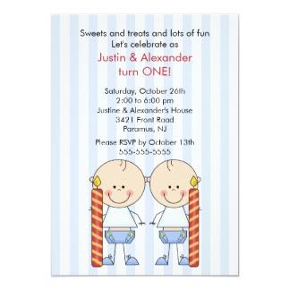 Carte D'invitation Anniversaire Pour Jumeaux, Cartes... | LisaoycWilson site