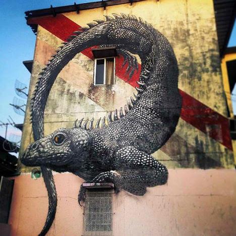 ROA Panama City Street Art 2