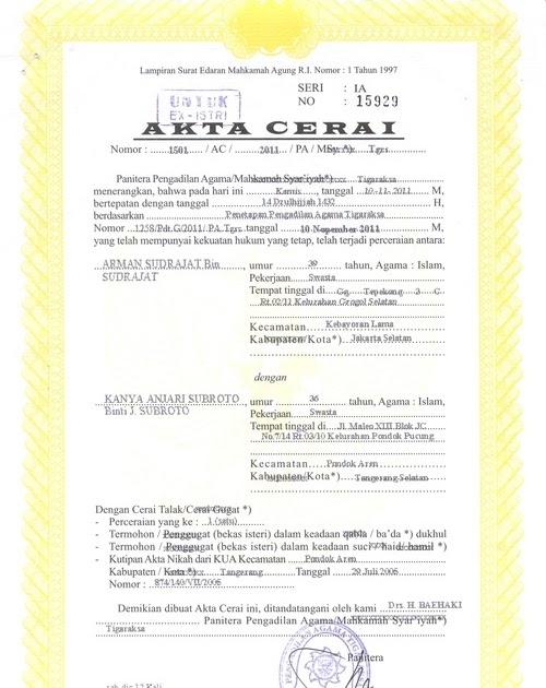 Contoh Surat Gugatan Cerai Hukum Perdata - Mika Put