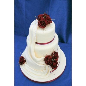 Burgundy Diamante Drape Wedding Cake Wedding Cake with