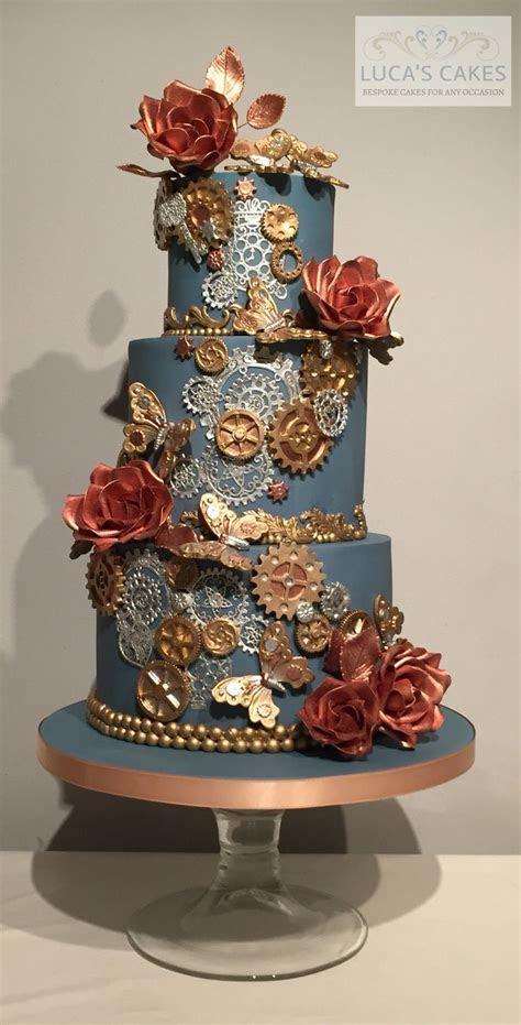 25  best ideas about Steampunk wedding cake on Pinterest
