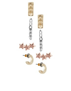 Image 1 of ASOS Spike and Star Multipack Earrings