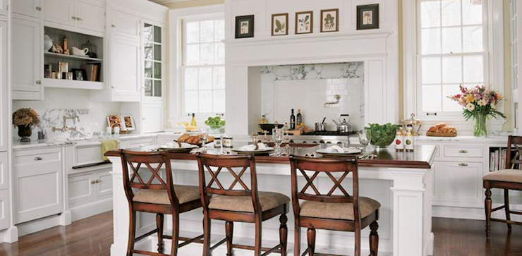 U Shaped KItchen - Cottage - kitchen - Peacock Cabinetry