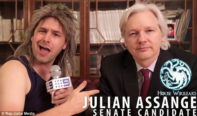 Interview: The segment of the video featuring Assange was filmed at the Ecuadorean embassy in London