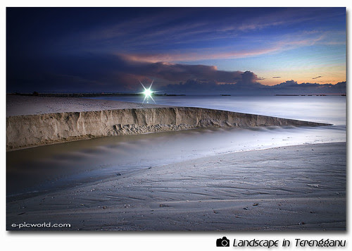 long exposure beach shot picture