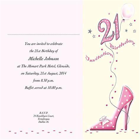 Occasion Card 21 4i   21st Birthday   wedding invitations