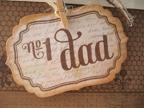 NO 1 DAD LABEL