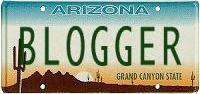 BLOGGER license plate