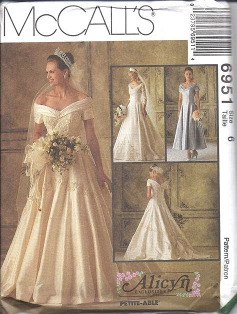 uncut vintage mccalls sewing pattern wedding dress