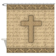 Cross W/ Bible Verses Shower Curtain by thepixelgarden