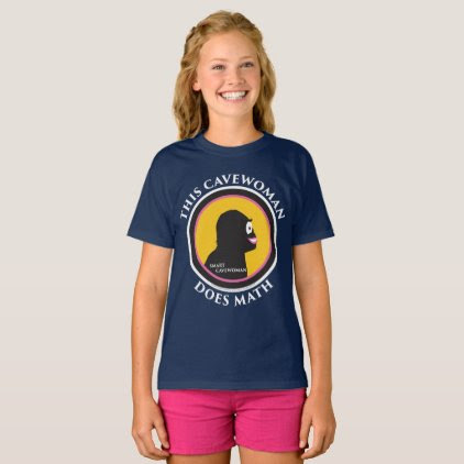 Hanes Tagless T-Shirt: Math Smart Cavewoman T-Shirt