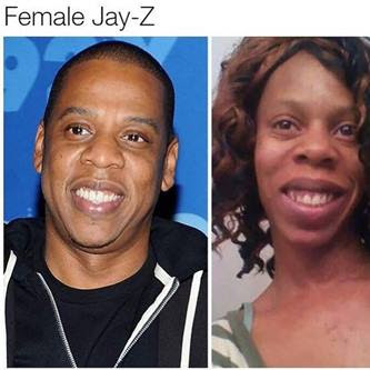 Photo Of A Female Jay Z Look-Alike