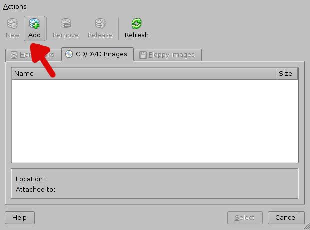 Choosing the ISO image