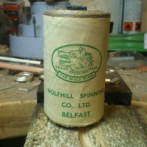 Antique linen thread- made in Belfast. (Taken with instagram)