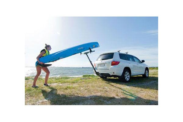 Go It Alone When Securing your Canoe or Kayak Just pivot the rack down