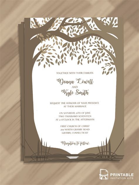Free Editable and printable PDF Wedding Invitation