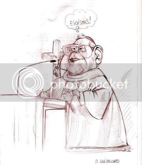 Caricatura Cardeal-Patriarca D. José Policarpo
