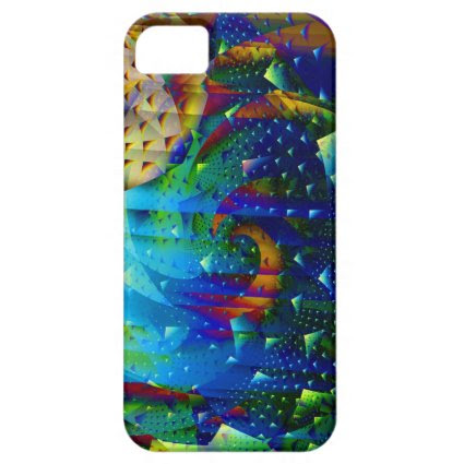Copper Moon Digital Abstract Fractal iPhone 5 Cases
