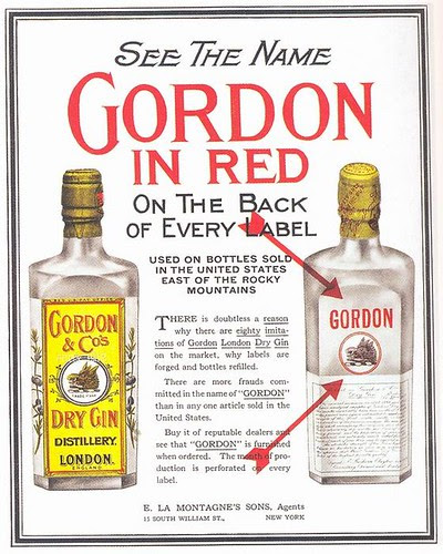 Gordon Gin ad, 1912