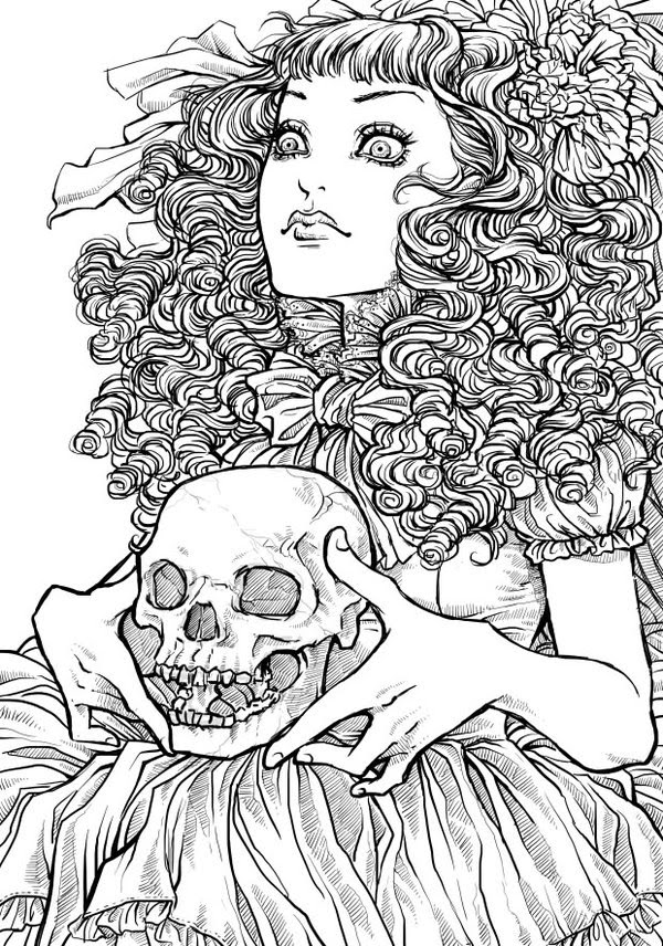 Free Printable Halloween Coloring Pages For Adults Best Coloring Pages For  Kids