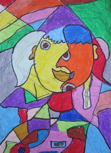 elementary art lesson  portraits cubism picasso oil