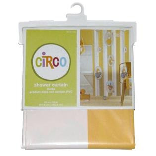 Circo Yellow Stripe Duck Vinyl Shower Curtain Yellow Ducky Bath ...