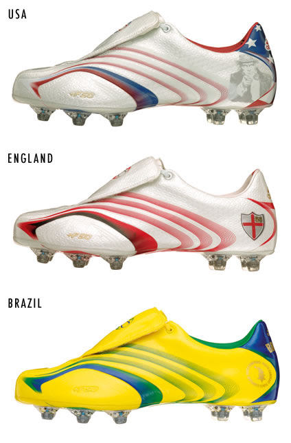 ADIDAS Boots 2006 FIFA World Cup. adidas presents 32 football boot designs,