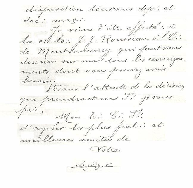 Lettre De Demission: Lettre De Demission Franc Maconnerie