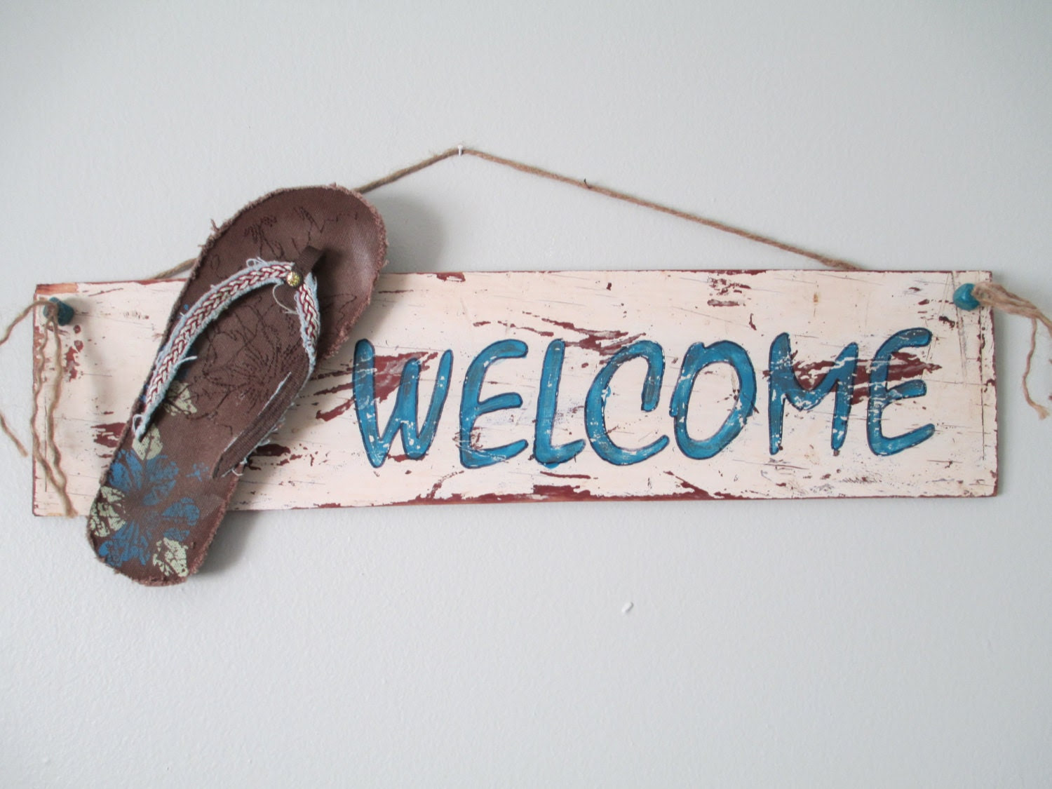 Custom Rustic Welcome Sign