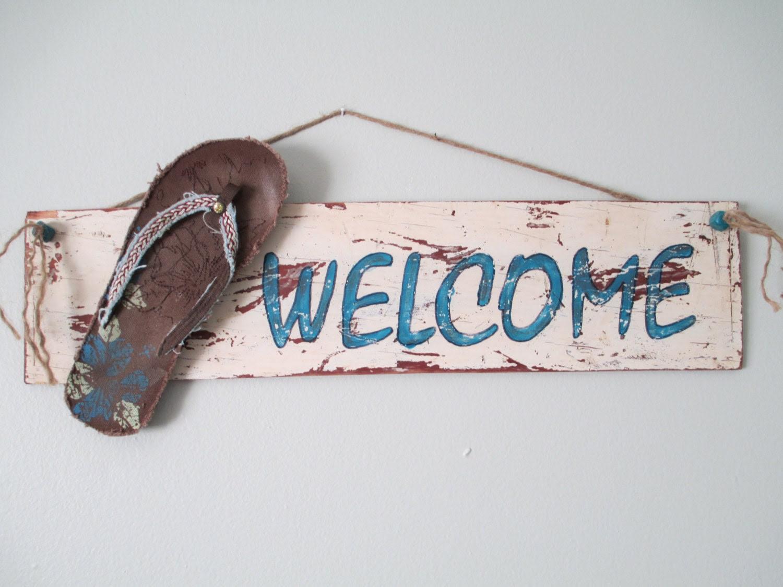 Custom Rustic Welcome Sign
