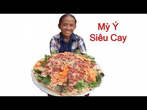 Bà Tân Vlog - Làm Đĩa Mỳ Ý Siêu Cay Khổng Lồ