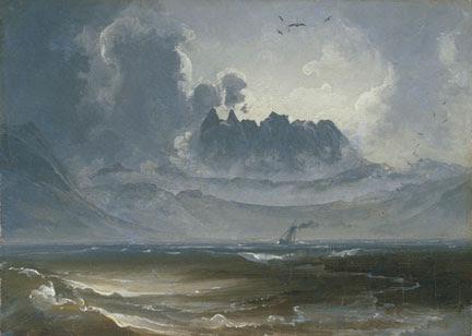 Peder Balke, The Mountain Range 'Trolltindene', about 1845